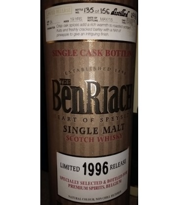 BenRiach 1996 Single Cask 24 Belgium