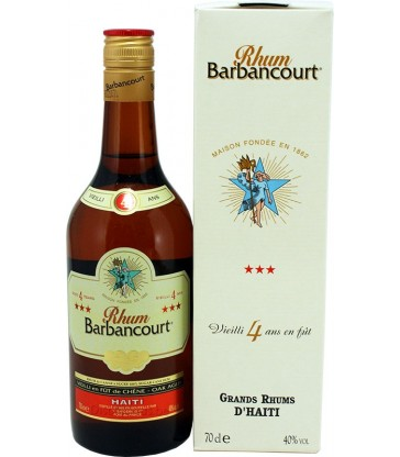 Barbancourt 3 etoiles 4 ans