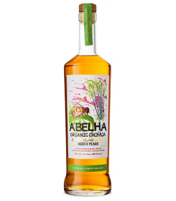 Abelha Organic Cachaça Gold 3y