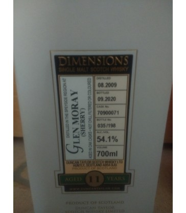 Duncan Taylor Dimensions Glen Moray 2009