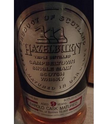Hazelburn 9y barrolo cask matured